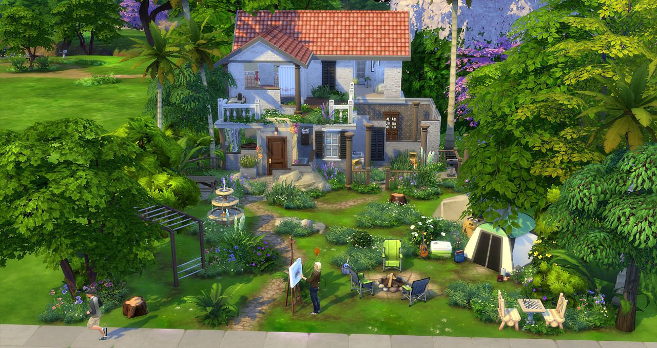 Sims 4 Pics & News — sssvitlans:   Ruins Park by Studio Sims Creation...