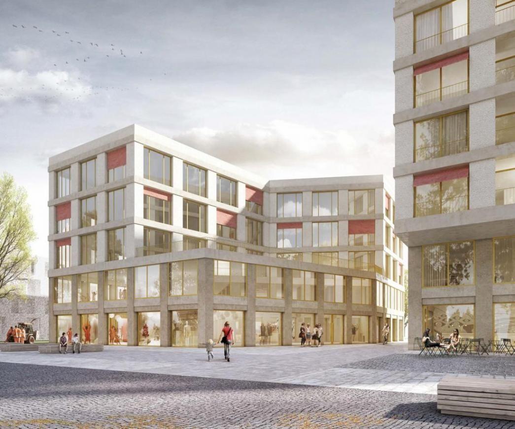 3d Visualisierung München architektur palais mai am bauhausplatz münchen 1 preis