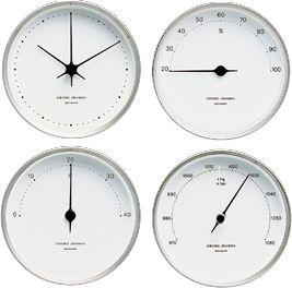 Georg Jensen Henning Koppel Weatherstation Set White Clocks Georg Jensen Living Clock