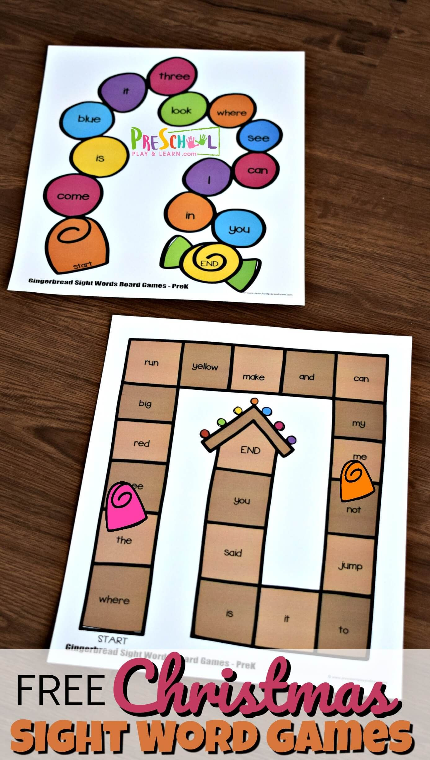 Free Christmas Sight Word Games