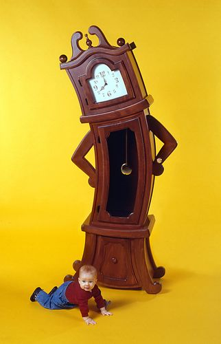 Grandfather clock with attitude cool stuff pinterest - Beauty and the beast bedroom furniture ...