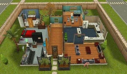 Quite cool love the left bottom corner room make it in for Casa de diseno the sims freeplay