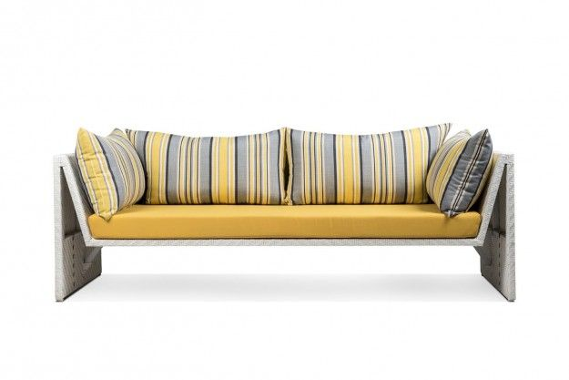 Slimline outdoor sofa, showcasing a minimalist suave design and a - designer gartenmobel kenneth cobonpue