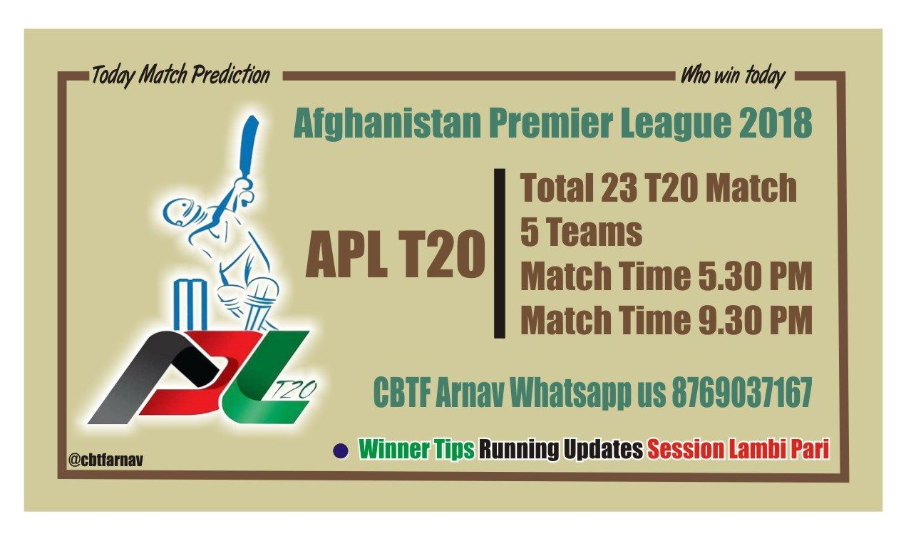 APL T20 Today Match Prediction  Who win today match Crick