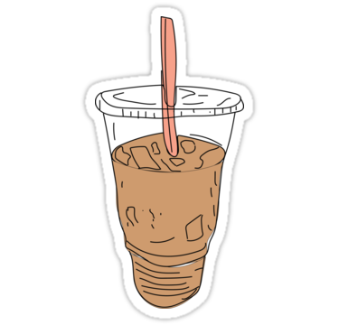 Iced Coffee Stickers By Feliciasdesigns Redbubble Coffee Stickers Coffee Cartoon Drink Stickers