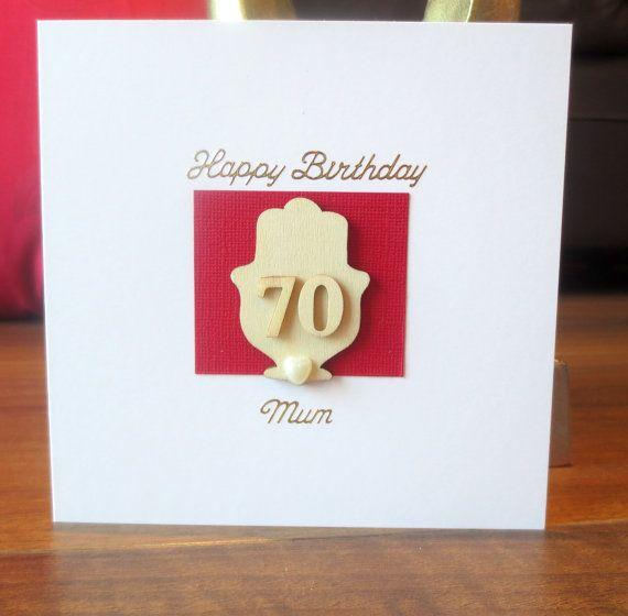 Personalised 70th Birthday Card Birthday Card Mum Card For