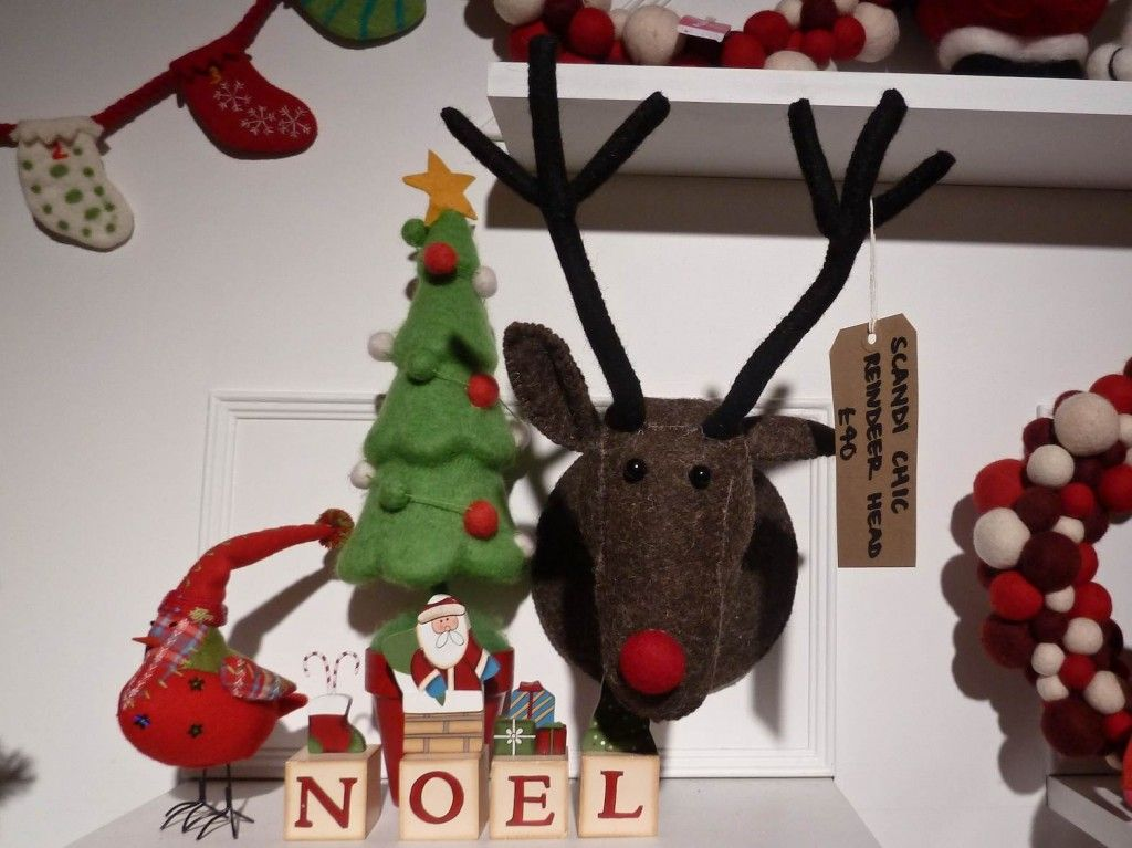 John Lewis Scandi chic stag\u0027s head for Xmas 2012 decorations - moose christmas decorations