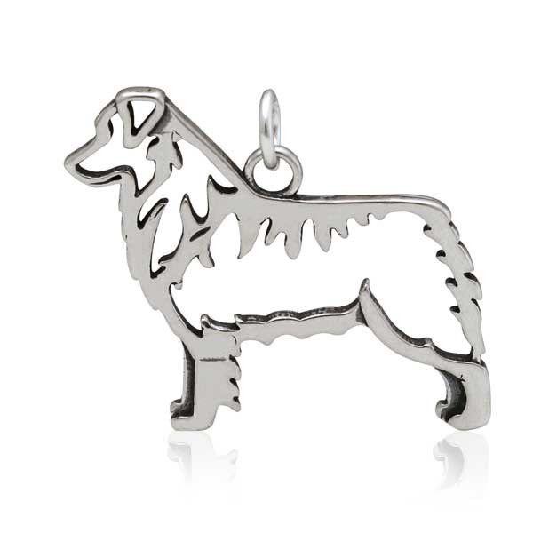 Sterling Silver Australian Shepherd Pendant Body Australian
