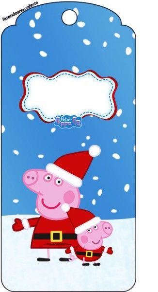 Tag Agradecimento Peppa Pig Natal