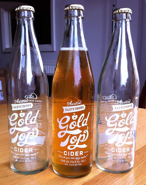 Gold Top Cider lettering by Simon Walker