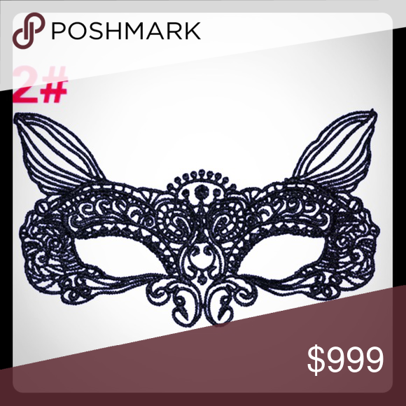 Lace Masquerade Mask Just In! NWT animal: 🐑 🐐 🐶 🐱 CID002 Accessories