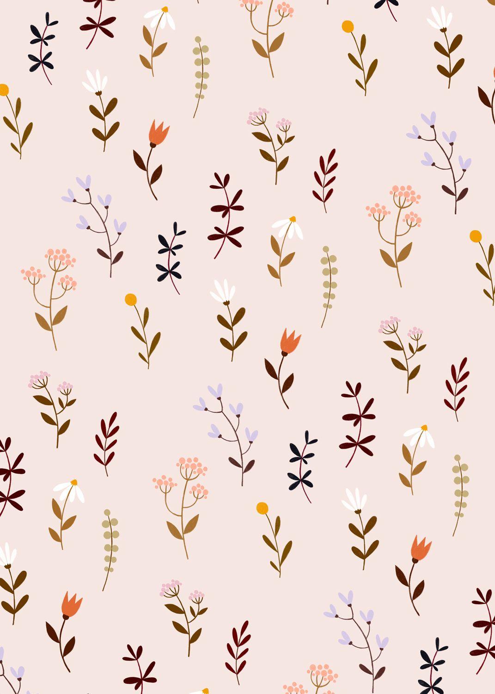 Floral Pattern Wrapping Paper Geschenkpapier