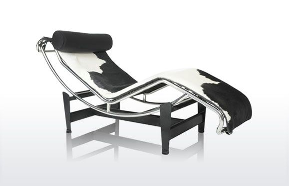 LC4 lounge Chair from Charles Le Corbusier produced by Diiiz black ...