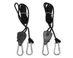 Hydrofarm 1 8 Compact Rope Ratchet 2 Pack Ratchet Grow Lights Hanger