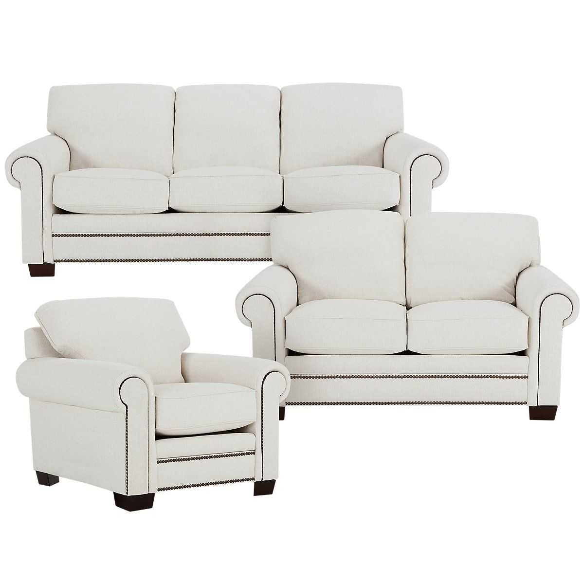 City Furniture Foster White Fabric Sofa White Fabric Sofa Furniture City Furniture Design
