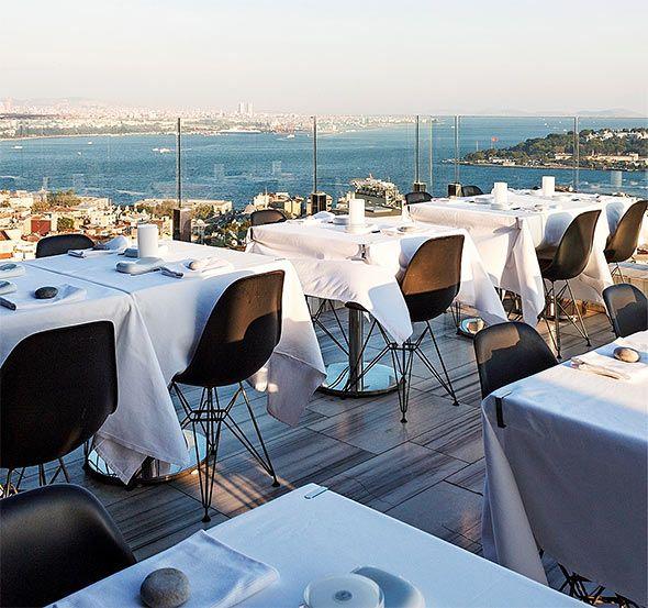 Mikla restaurant in Istanbul, Turkey