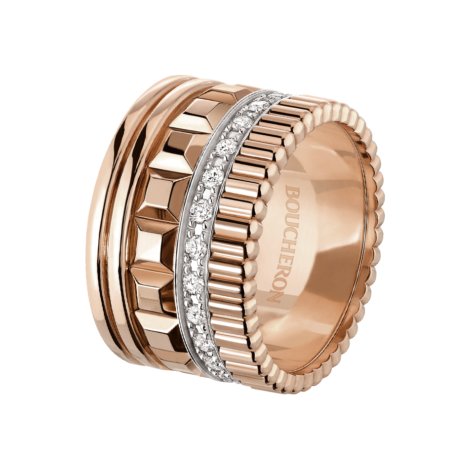 5c1378423a197 Кольцо из розового золота с бриллиантовым паве | ЗОЛОТО in 2019 ...
