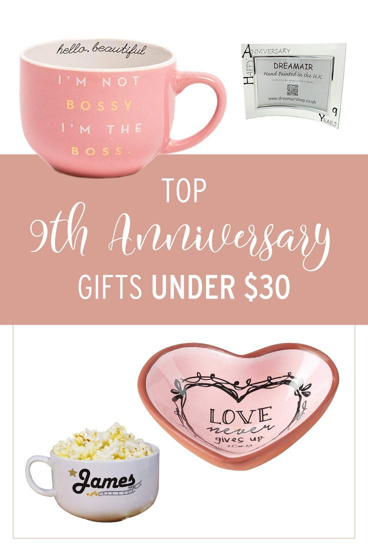 9th Anniversary Gifts for Her Under 30 Anniversary