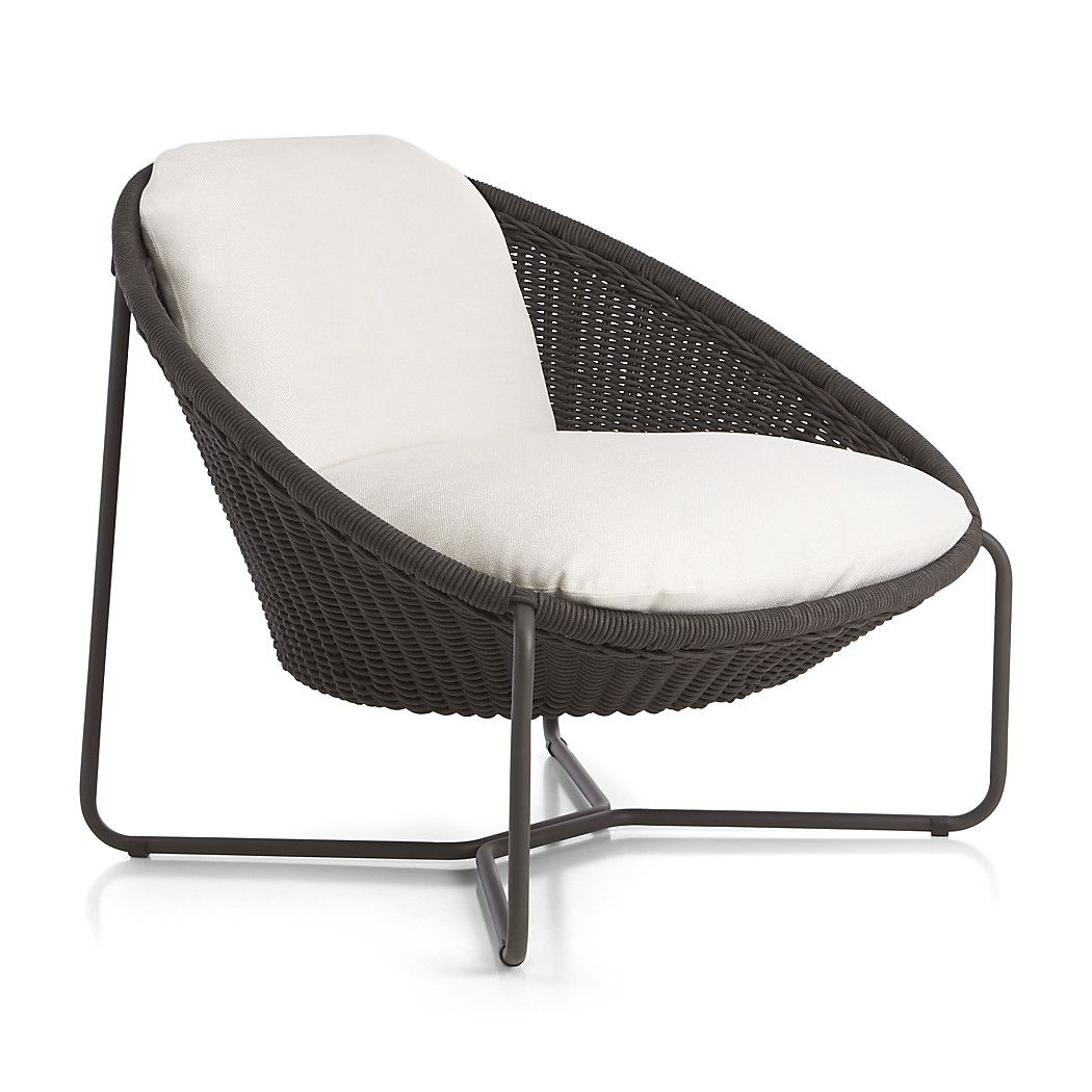 Oval lounge chair - Morocco Charcoal Oval Lounge Chair With Cushion