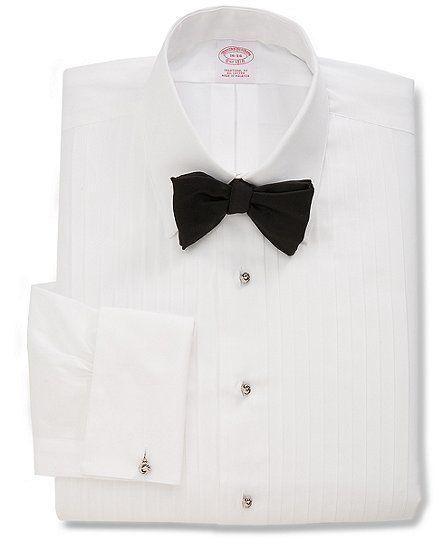AT Harris Mens White Cotton Pleated Tuxedo Shirt MjxjG5C