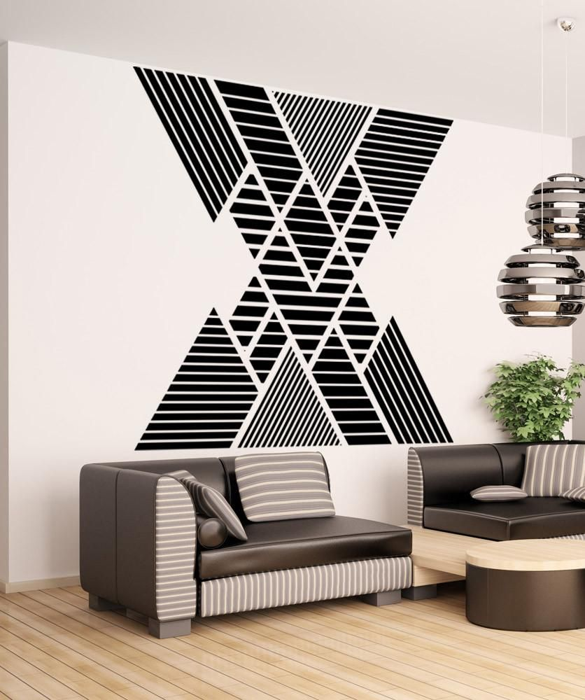 geometric pattern double vision mountain wall decal os on wall stickers id=35788