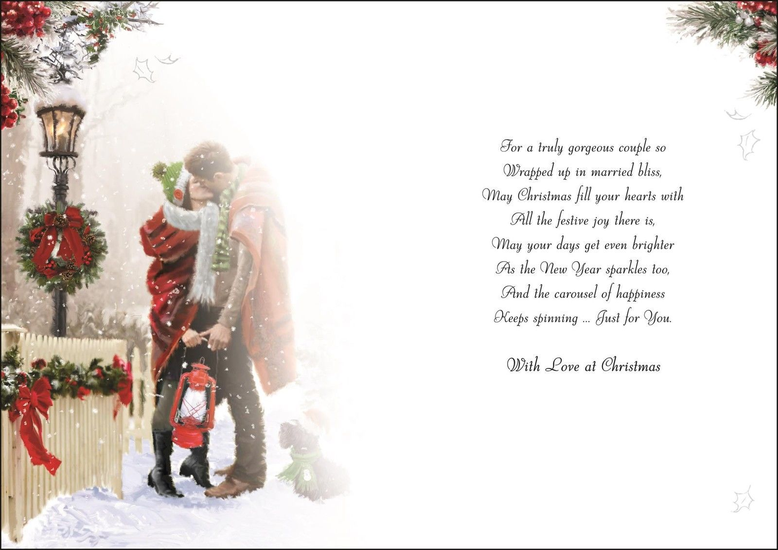 To A Lovely Daughter and Son In Law Christmas Card Lovely Verse