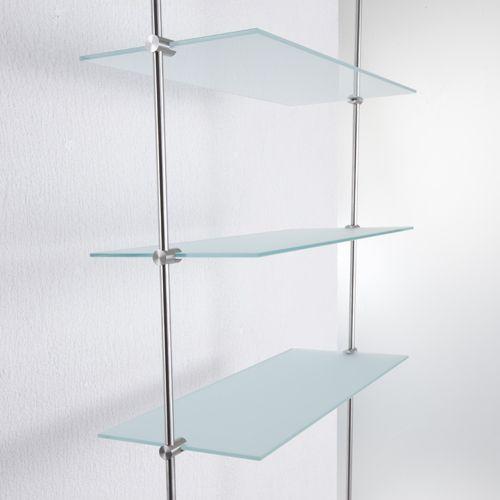 Glasregale Mit Phos Edelstahlbeschlagen Ermoglichen Vielfaltige Planungen In Kombination Mit Unserem System Von Massiven Stangenele Regal Glashalter Glasregal