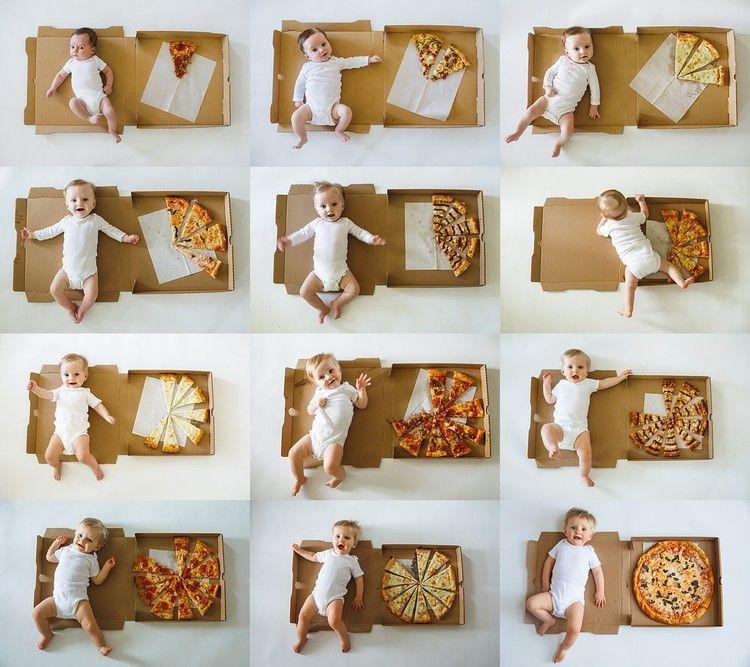 Diese Mutter dokumentierte das erste Jahr ihres Babys in Pizzastücken – wie sie die Beläge auswählte, ist Hil …  – Parent Blog