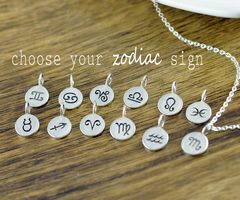 Zodiac Necklace - Horoscope Necklace - Zodiac Gift - Zodiac Charm Pendant - Zodiac Jewelry - Astrological Jewelry