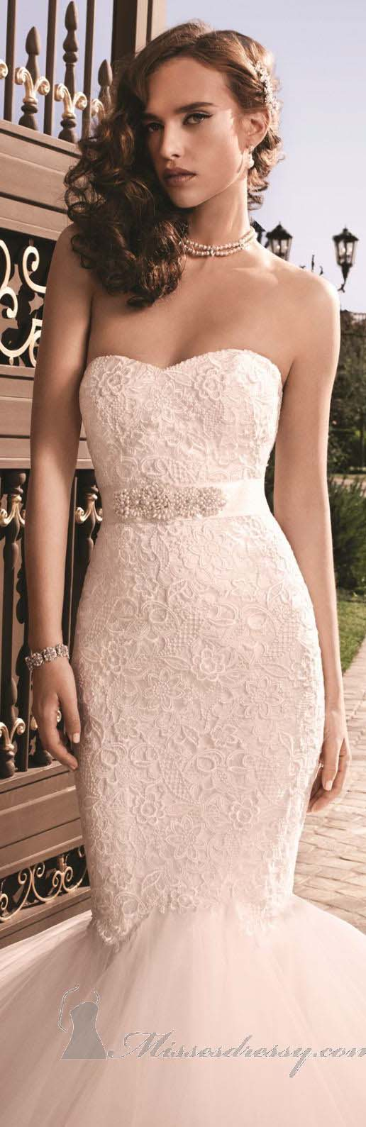 Guipure lace mermaid gown by casablanca bridal weddings the