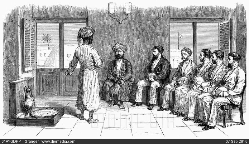 HH Sayyid Bargash - Davig LIVINGSTONE RECEPTION, 1872 A private - doctor livingstone i presume