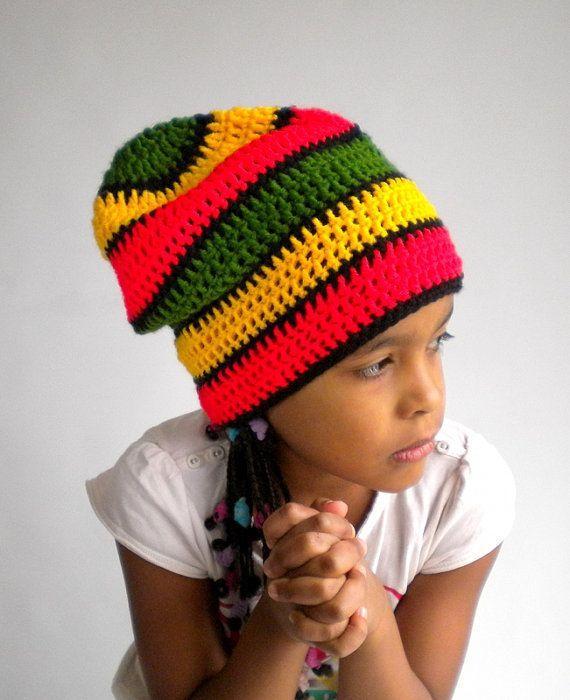 Rasta hat dreadlock tam cultural rastafari colored beanie, slouchy ...