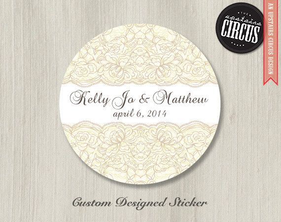 100 Custom Wedding Stickers Vintage Lace By Upstairscircus 25 00 Custom Wedding Stickers Wedding Stickers Vintage Lace Weddings