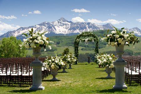 Mountain Wedding Venues.A Rustic Elegant Mountain Wedding In Telluride Colorado