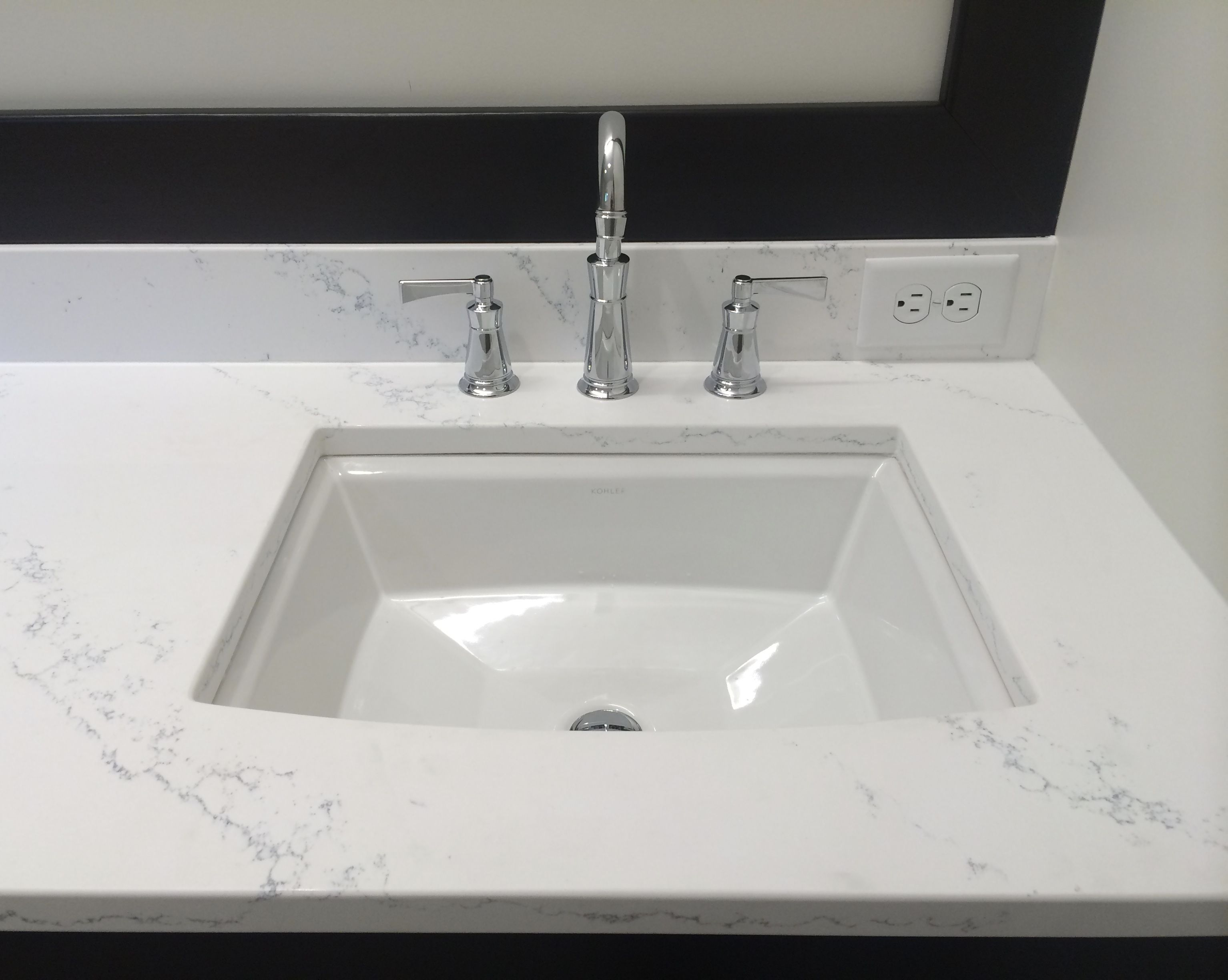 Quartz Countertops Kohler Archer Undermount Sink And
