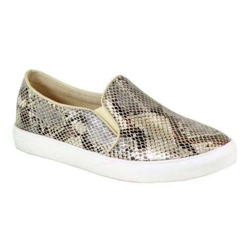 Reneeze-OMA-04-Womens-Fashion-Slip-on-Snake-Print-Sneakers-BEIGE