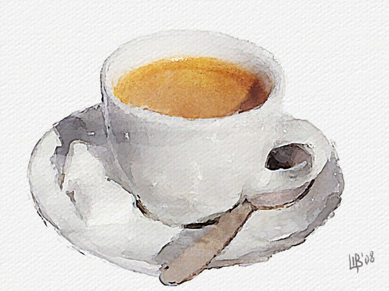Coffee Cup Coffee Watercolor Art Watercolor