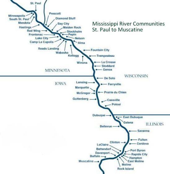 Winona Minnesota To Prairie Du Chien Wisconsin Midwest