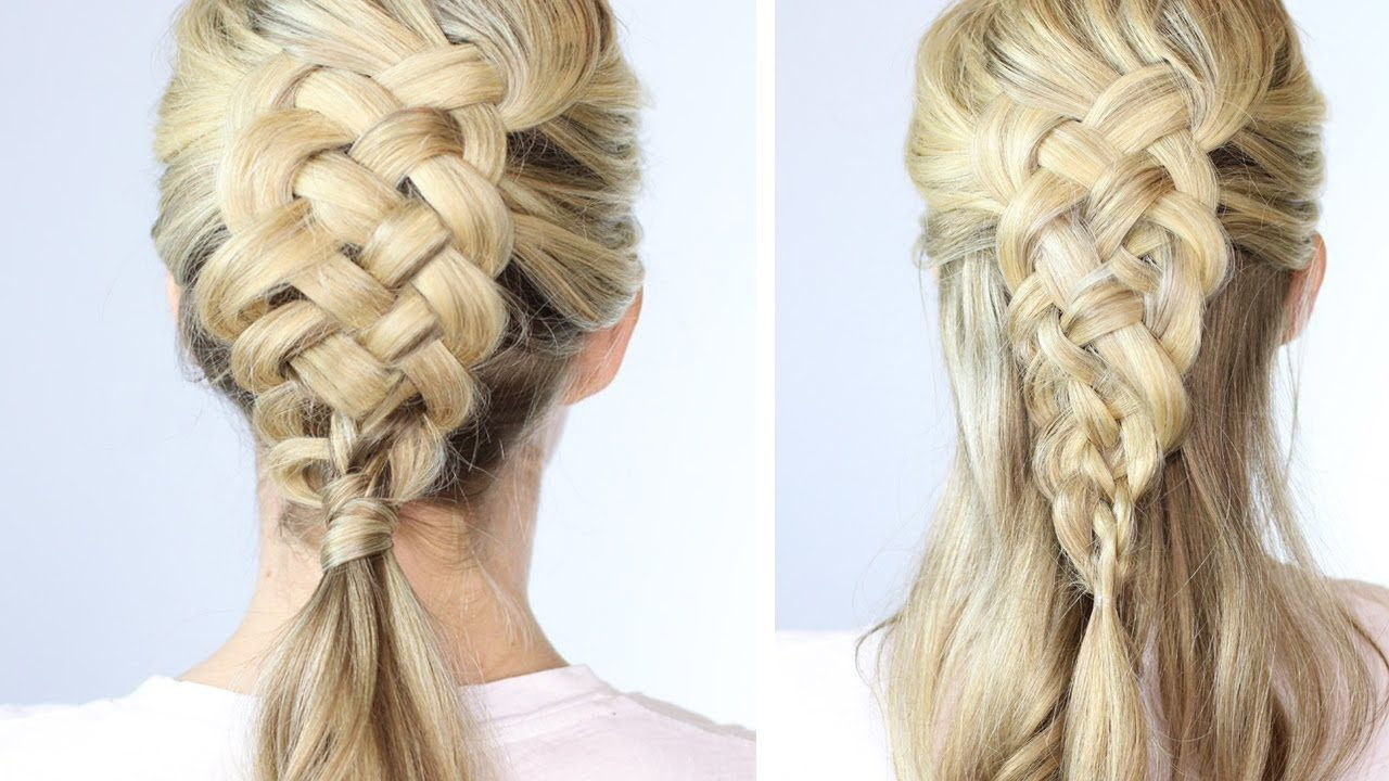 5 Strand Dutch Braid On Yourself | Ok, not easy but she explains it ...