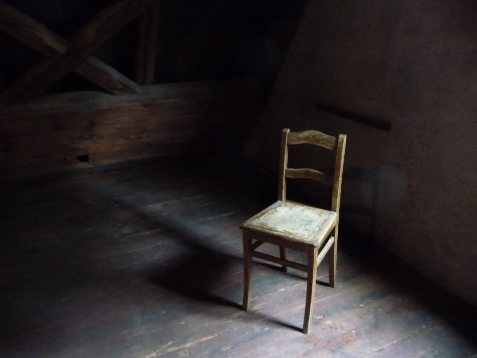 Empty chair in room - I Chose This Picture To Represent Negative Space In Real Life The Chair Shows Positive