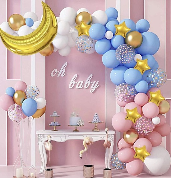Twinkle Twinkle Little Stars A Perfect Theme To Accomplish An Awesome Gen In 2021 Gender Reveal Party Decorations Twinkle Twinkle Gender Reveal Star Baby Shower Theme