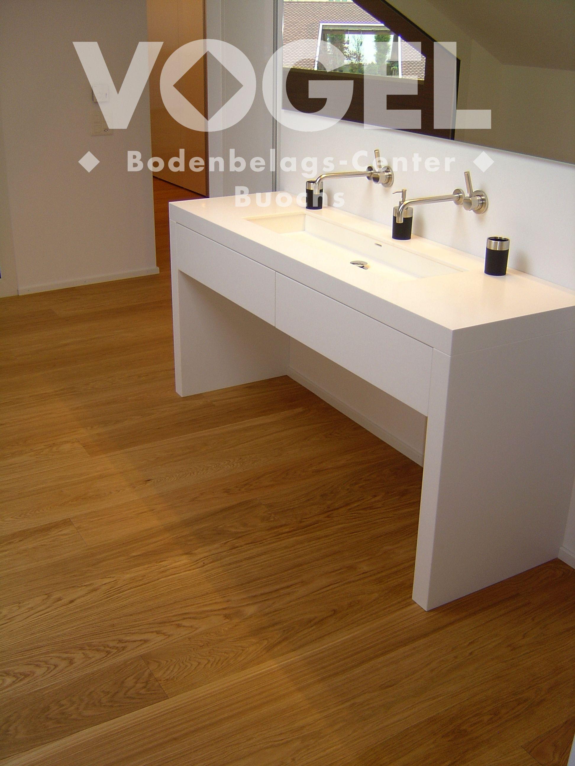 Admonter Eiche Geölt Parkett Boden Bad Bad Mit Dielen - Parkett im badezimmer