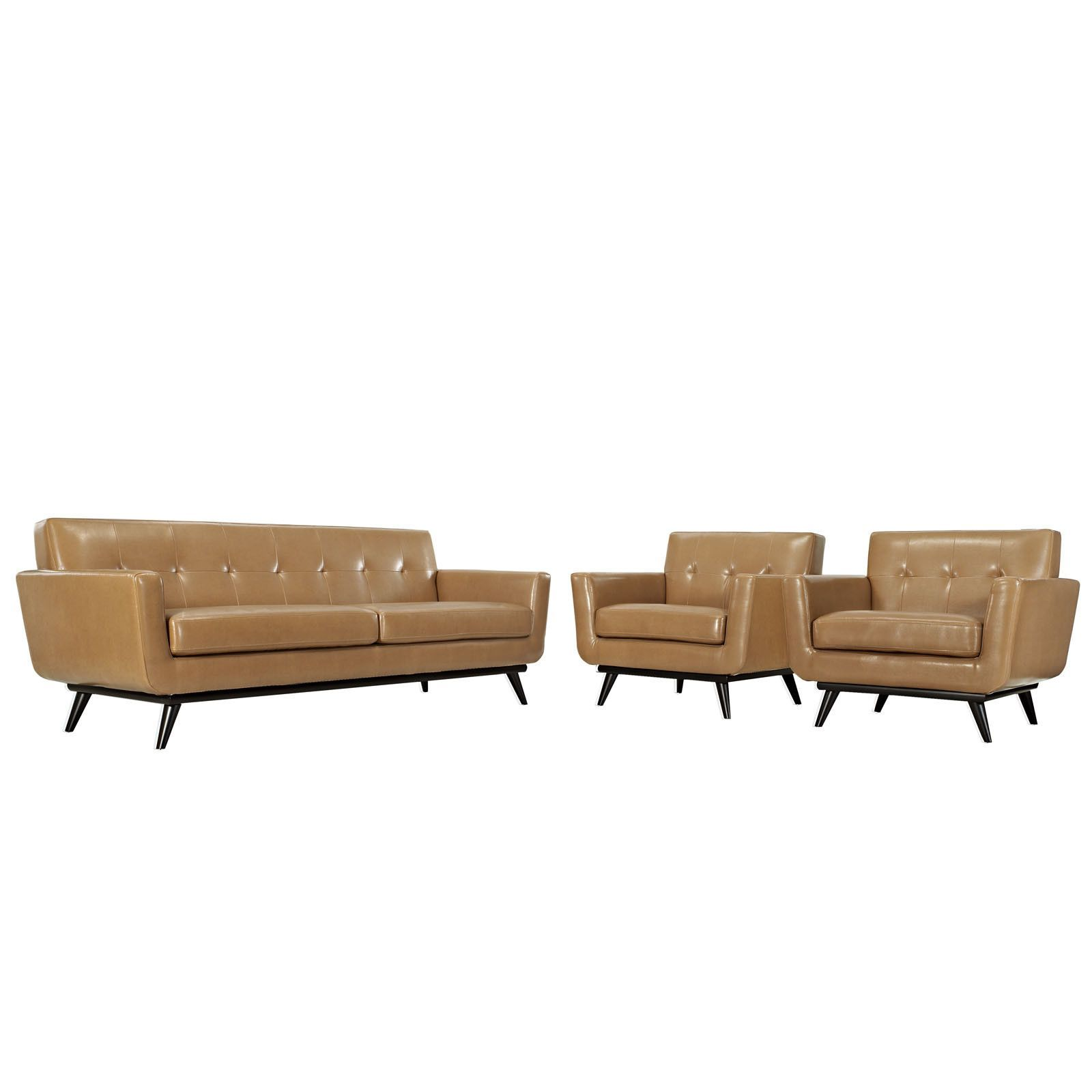 buy Engage 3 Piece Leather Living Room Set at Harvey & Haley for ...