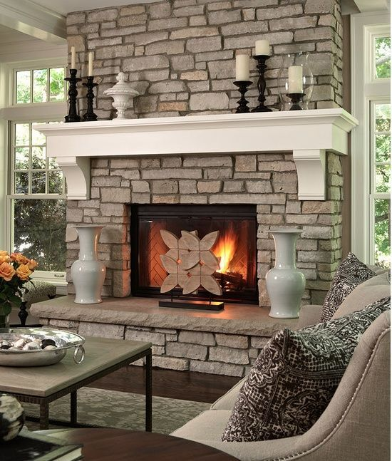Raised Hearth Fireplace Designs: 40 Stone Fireplace Designs From Classic To Contemporary