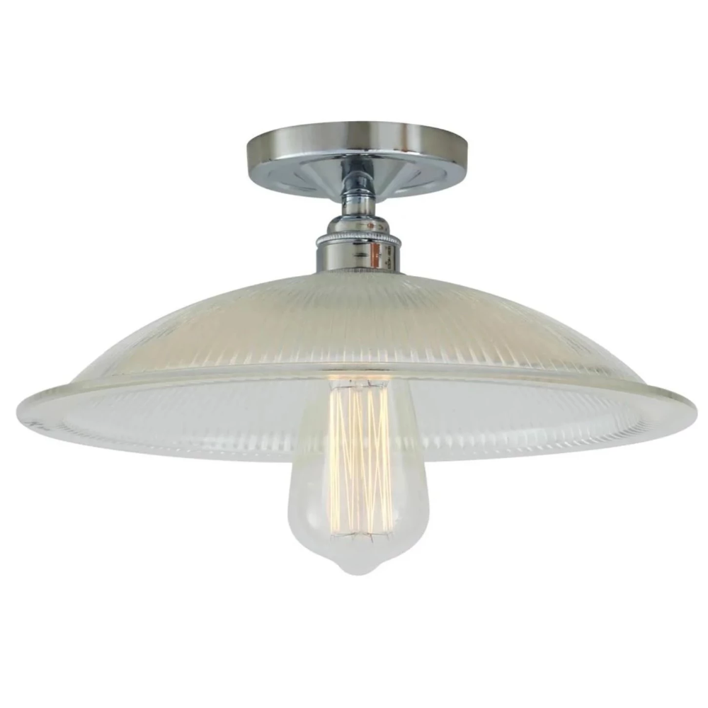 Calix Holophane Flush Ceiling Light Mullan Lighting