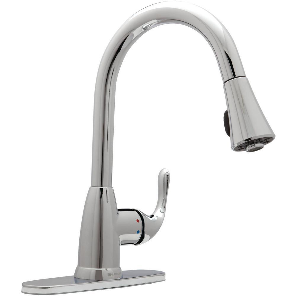 Glacier Bay Market Single Handle Pull Down Sprayer Kitchen Faucet