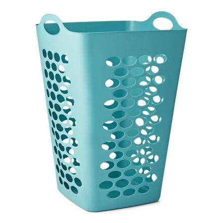 Mainstays Flexible Square Teal Laundry Hamper 26 Inch Size 26