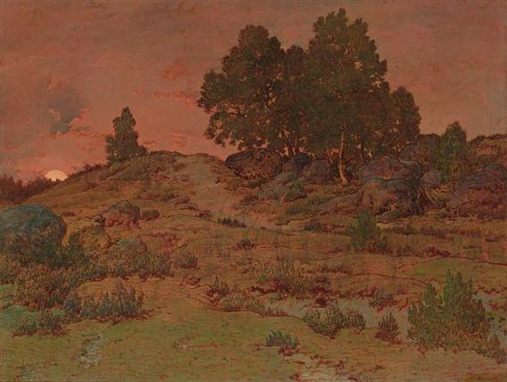 Artwork By Theodore Rousseau French 1812 1867 Soleil Couchant Sur Les Sables Du Jean De Paris Made Of Oil Barbizon School Theodore Rousseau Landscape Art