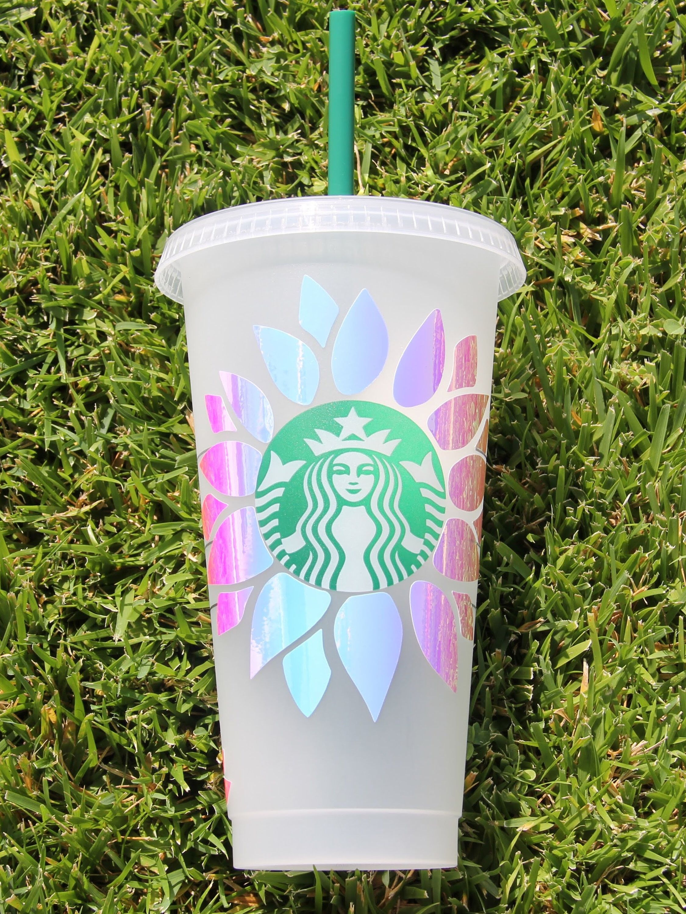 Custom Flower Tumbler Cup Flower Vinyl Decal Sticker Etsy Custom Starbucks Cup Starbucks Diy Starbucks Cup Design