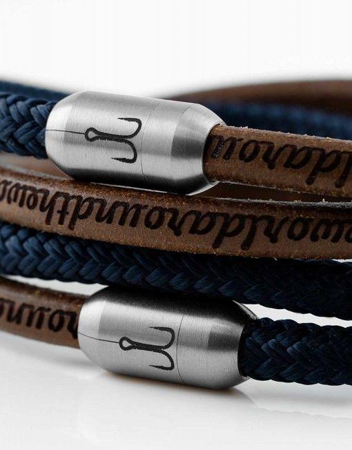 970dbaf3d75e fischers-fritze-leder-segeltau-armband-kette-braun-natur-gravur-edelstahl- maritim-garnele-marine-blau-nah Mehr
